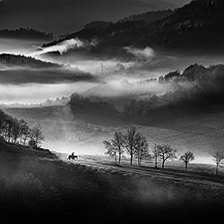 Morning ride-Peter Svoboda-bronze-landscape-375