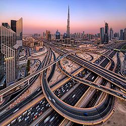 Spiral Dubai-Partha Roy-bronze-landscape-422
