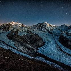 Monte rosa sparkling night-Peter Svoboda-silver-landscape-2422