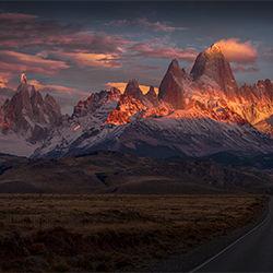 Burning peak-Peter Svoboda-bronze-landscape-2127