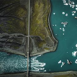 ice cubes-Patrick Curtet-bronze-landscape-2157