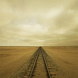 tracks-Chris Gordaneer-bronze-landscape-2151