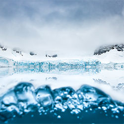 Glacier Mirror From Under Water-Thomas Vijayan-bronze-landscape-2174