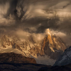 Stormy cloiuds over the Patagonia spikes-Peter Svoboda-finalist-landscape-3463