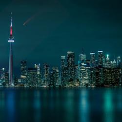 Toronto Skyline with Neowise Comet-Alex Doroshev-bronze-landscape-5084