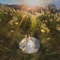 Hilltop Silvergrass with Bride at Sunrise-Joe Lai-silver-wedding-4999
