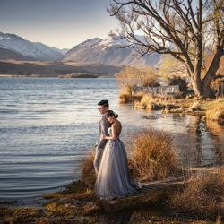 Sunset at Lake Alexandria-Zhuo Ya-bronze-wedding-4691