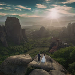 Giannis & Vivi at Meteora Greece-Tilemaxos Gioglaris-silver-wedding-6342