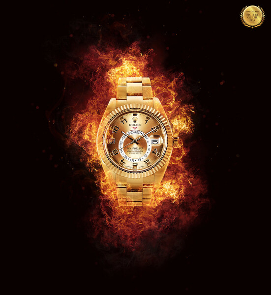 Photograph Charlie Surbey Rolex On Fire on One Eyeland