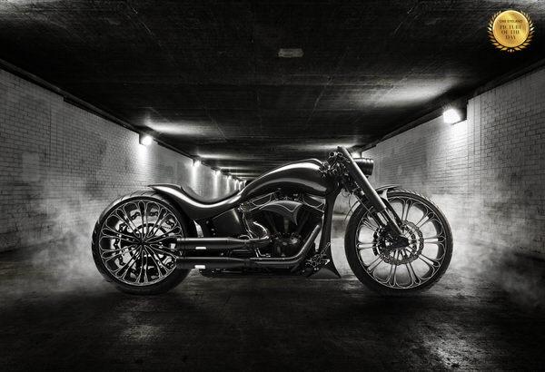 Photograph Roman Demchenko Harley Davidson Softail Custom Carbon on One Eyeland