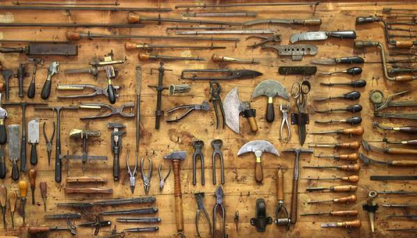 Photograph Huub Keulers Old Tools on One Eyeland