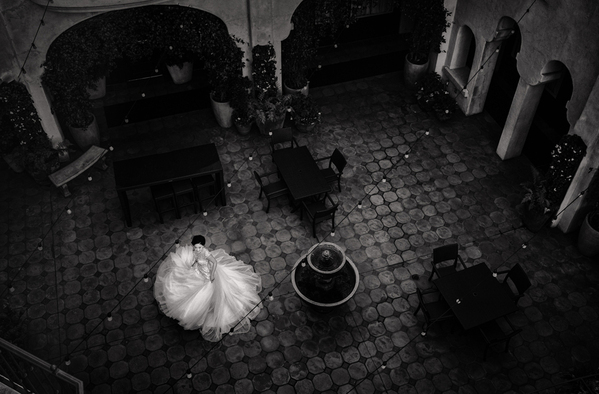 Photograph Vicens Forns Twirling Bride on One Eyeland