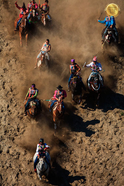 Photograph Patrick Bennett Suicide Race At The Omak Stampede on One Eyeland