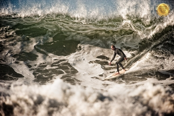 Photograph Kevin Steele Surfing Rincon on One Eyeland